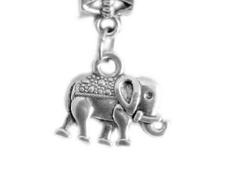 silver elephant necklace, fashion jewellery, elephant charm necklace, handmade necklace, silver necklace, elephant jewellery, animal, uk