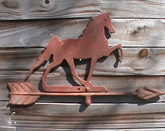Old horse weather vane topper w/ arrow Wall decor mancave garage