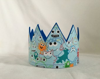 Monster crown, Monster Birthday Party, Monster Party hat, monster birthday, boys monster party, Monster Birthday, Monster themed party,