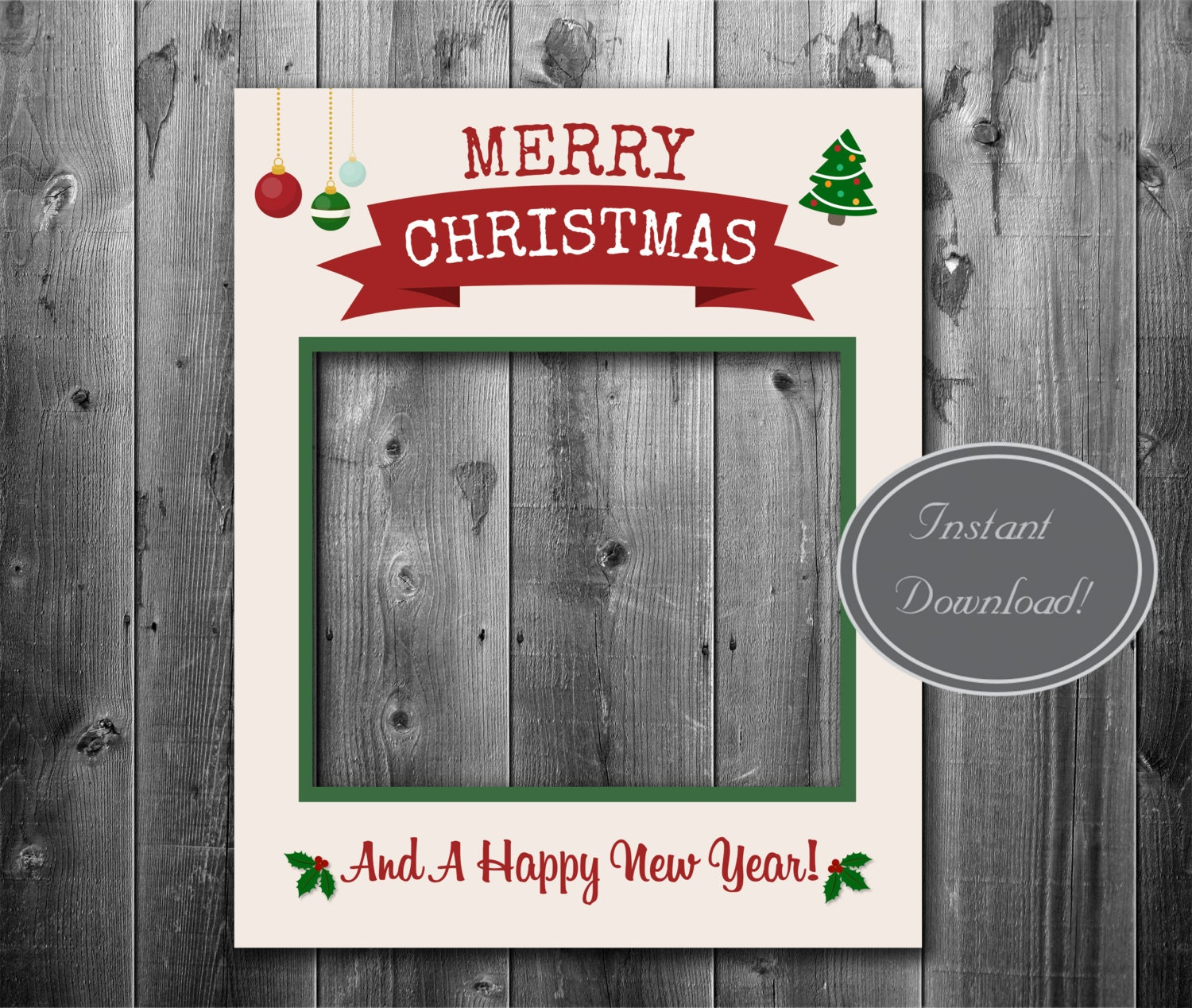 Christmas giant printable prop Instant Download photobooth
