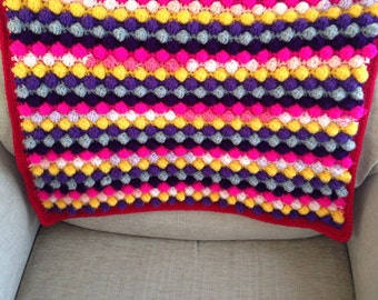 Tutti Frutti Bobble Crochet Baby Blanket