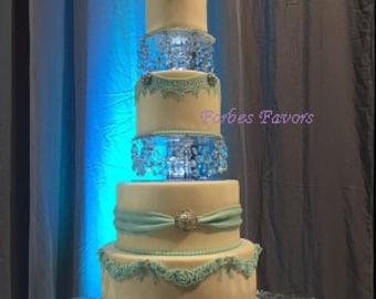 Elegant  2 Piece Set Crystal Cake Separators