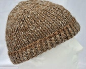 Hand Spun, Hand Knit, Alpaca Winter Hat. Very warm beanie, toque, ski cap, watch cap, or winter cap.