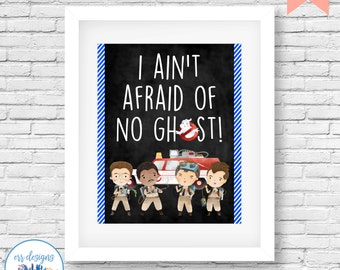 Ghostbusters Printable, Ghostbusters Sign, 8x10 Ghostbusters Digital Printable