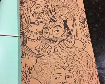 Circus Mixed Media/Coloring/Art Journaling Travelers Notebook Insert