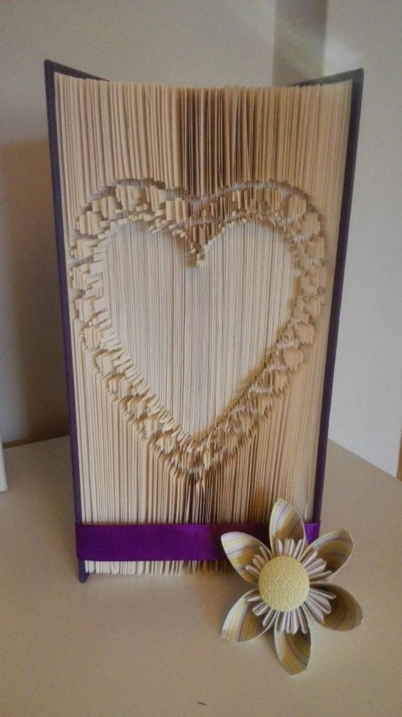 1st Wedding Anniversary Gift Ideas Ireland : Heart Valentines Gift Gift for Girlfriend Folded Book Art