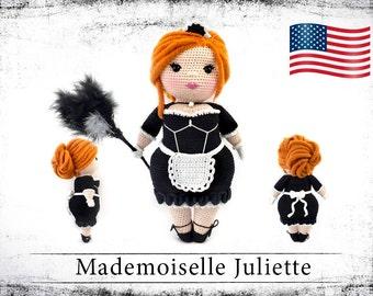 """crochet doll pattern """"Mademoiselle Juliette"""" eBook PDF (english   us terms)"""