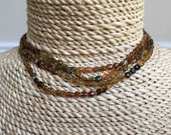 Tourmalines in brown tonalities necklace