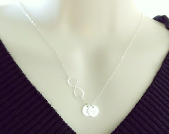 Infinity Necklace,Personalized necklace.Bestfriend,valentine gifts,mother day gift,gift ideas for her