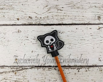 Fox Skellie Pencil Toppers - Classroom Prizes - Party Favor - Skeleton - Party Supplies - Small Gift - Back to School