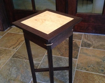 Plant Stand Walnut and Maple
