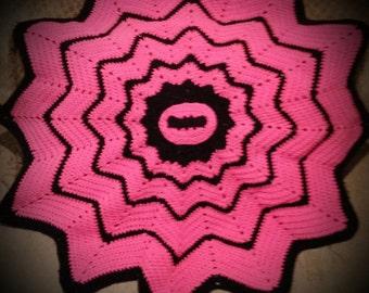 Crochet Blanket, Batgirl Baby blanket,