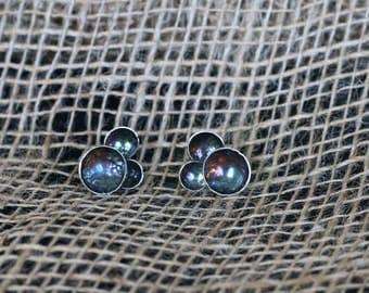 Sterling Silver Galaxy Earrings