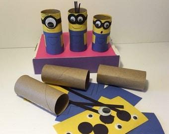 Minions Craft Kit Paper Tube Craft Kit