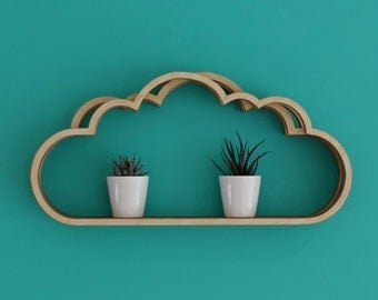 Large Cloud Shelving (wooden front)