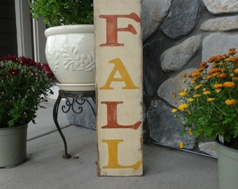 Hello FALL. 6x26 Hand painted wood sign/ Fall decor/ Rustic fall sign/ Fall sign/ Autumn wood sign