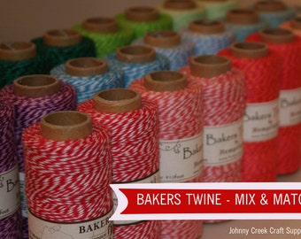 Cotton Bakers Twine - Mix and Match Colors