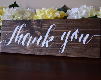 Thank You Signs, Wedding Thank You Sign, Wooden Thank You Sign, Rustic Thank You Sign, Wedding Thank You Signs, Wedding Decor