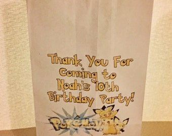 The perfect Pokemon cookie or candy buffet favor bag!