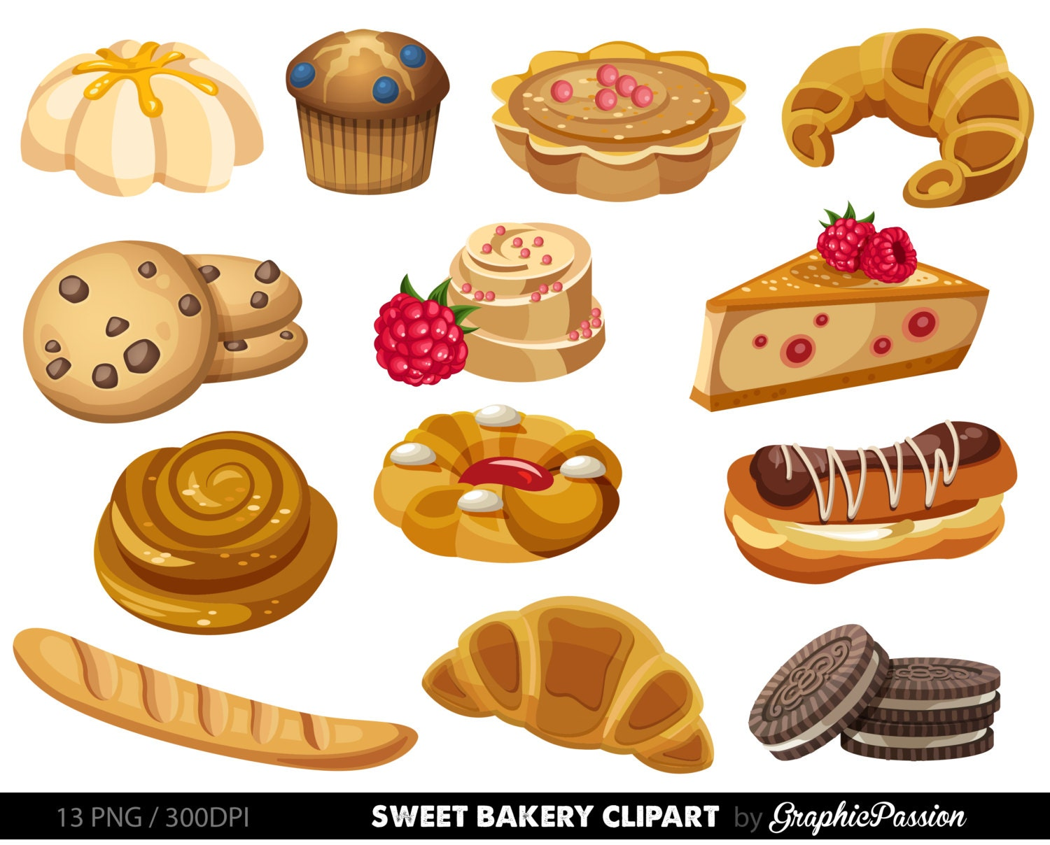 Cake Art Bakery : Bakery clipart Sweet Treat Bakery clip art Breakfast clipart