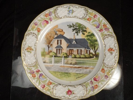 Vintage Collector Plate-Wall décor-Centennial, Colorado Springs Colorado-Major Henry McAllister 1873-Tutt Estate