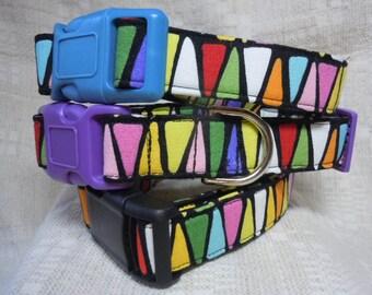 Cool Dog Collar / Unique Dog Collar / Large Dog Collar / Colorful Dog Collar