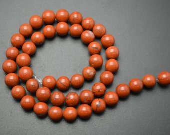 1strnad 6mm~16mm Natural Red Stone Jasper Round Loose Beads