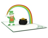 Leprechaun Pop Up Card, Leprechaun Card, Lucky Pop Up Card, Lucky Card, Good Luck Pop Up Card, Good Luck Card, Lucky Charm, Pot of Gold