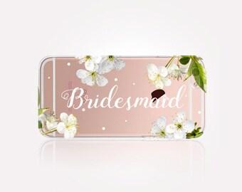 Bridesmaid Clear Phone Case - Clear Case-For iPhone 8, 8 Plus, X, iPhone 7 Plus, 7, SE, 5, 6S Plus, 6S,6 Plus,Samsung S8,S8 Plus,Transparent