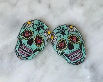 Mexican Sugar Skull Earrings