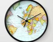 Modern Clock, Modern Wall Clock, Modern Clock, The Modern Clock, world map clock, modern striped clock, modern wall clock