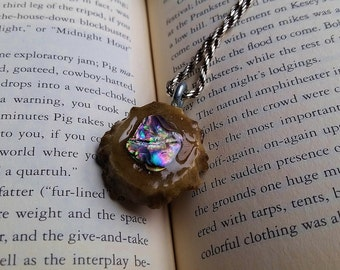 Abalone Antler Shed pendent