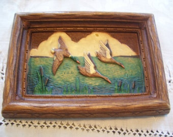 Burwood Geese Wall Hanging Burwood Products Traverse City Vintage
