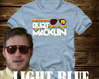 FD Sale- On Sale - BURT MACKLIN Fbi retro T-shirt from Parks and Recreation- Adult sizes -Tv Chris Pratt Andy Dwyer mouse rat scarecrow boat