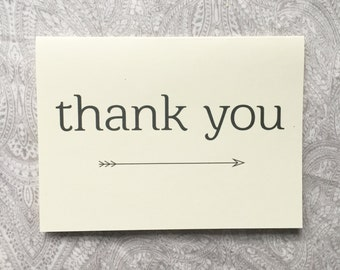 The Arrow Thank You Card Set (Ivory)
