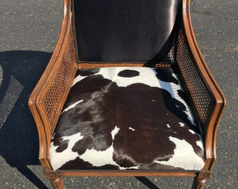 Customized Cowhide Accent Chair