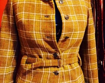 Vintage Wool Plaid Suit