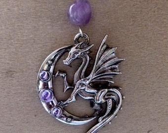 dragon on Amethyst Moon pendant