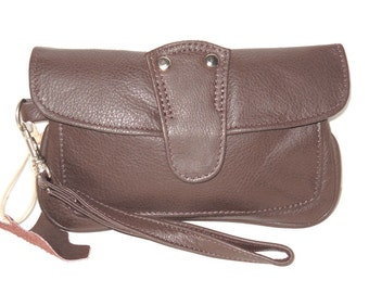 Leather Cell Phone Wristlet Wallet