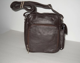 Cross-body Leather Handbag With Organizer