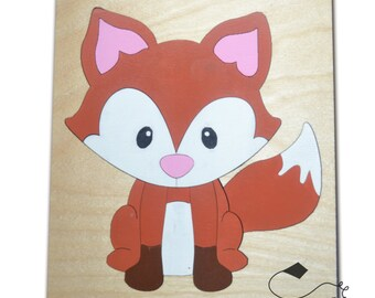 What Does The Fox Say Wooden Puzzle, Wood Puzzles, Preschool Puzzle