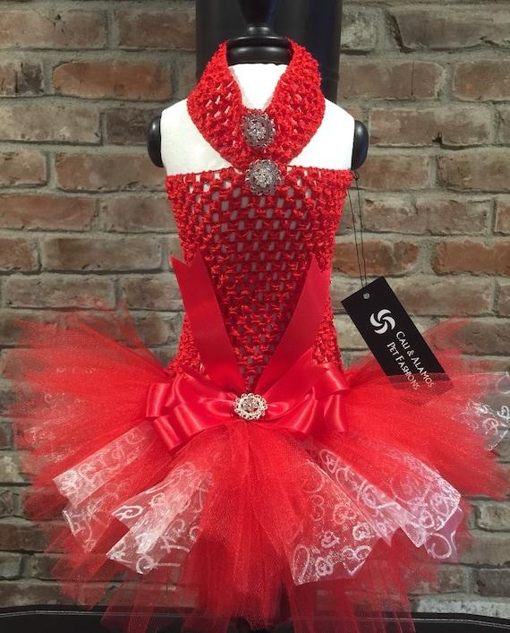 Valentine Pet TuTu Dress