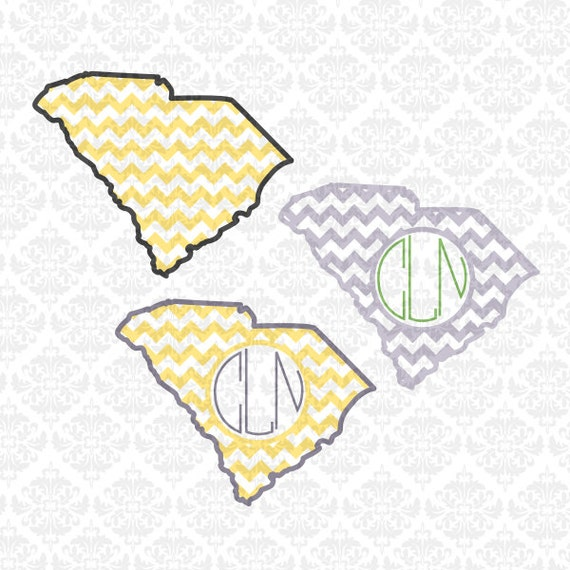 South Carolina chevron outline love Home Monogram SVG STUDIO DXF Ai Eps Scalable Vector Instant Download Commercial use Cricut Silhouette