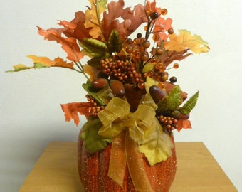 Floral Pumpkin decoration