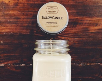 Handmade Scented Tallow Candle