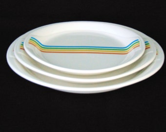 "SYRACUSE CHINA ""SPECTRUM"" Syralite - Set of 3 Nesting Platters - Excellent!"