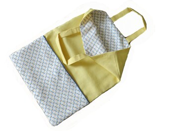 "Tote bag ""Margherita"" jaune"