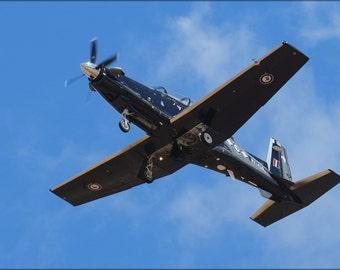 24x36 Poster . Beechcraft T-6 Texan Ii Overhead