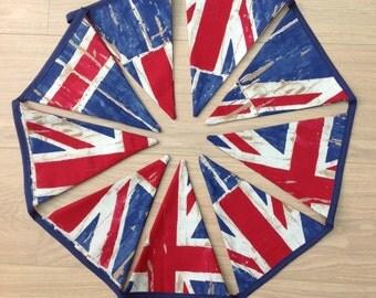 Union Jack fabric bunting