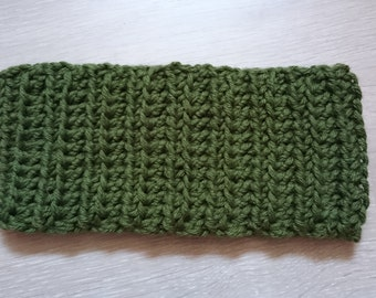 Green headband or neck warmer
